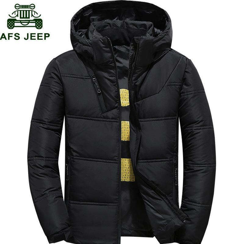 2020 winterjacke männer thermisch dick down mantel schnee parka männlich warme outwear doudoune homme ultralight weiss duck hinunterjacke männer