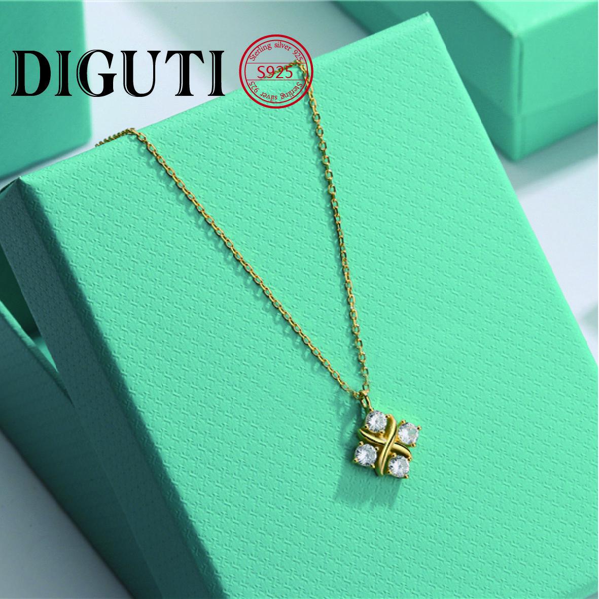 Tiff ljewelry tasarım kolye, zirkon ile kakma, orijinal renk kolye