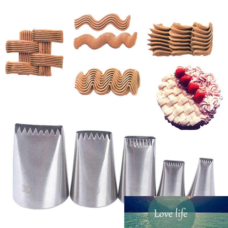 Buzlanma Boru İpuçları Taşınabilir Pişirme Aksesuarları Kek Krem Meme 5 adet Mutfak Aletleri Pişirme Pastane Dekorasyon Stanless Steel