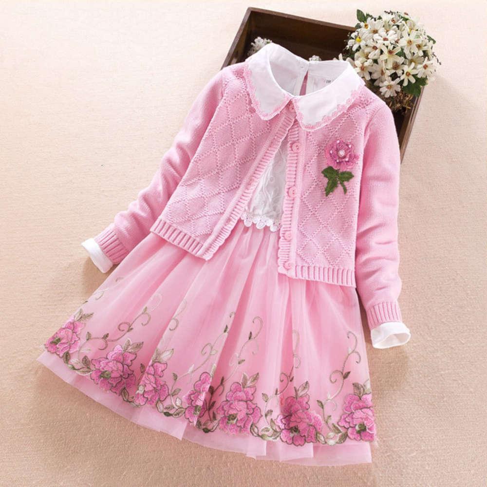 Детская осень девочек 2020 дрс и два куска весенний длинный SVE свитер князья юбка костюма
