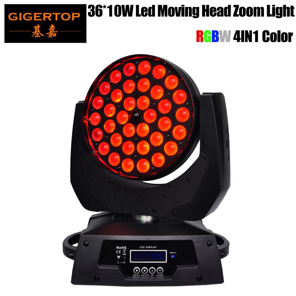 Tiptop 36x10W 4in1ズームLED移動ヘッドライトRGBW DMX 512 KTV LEDの移動ヘッドウォッシュビーム効果AC110V-240V DJ KTVクラブTP-L620A