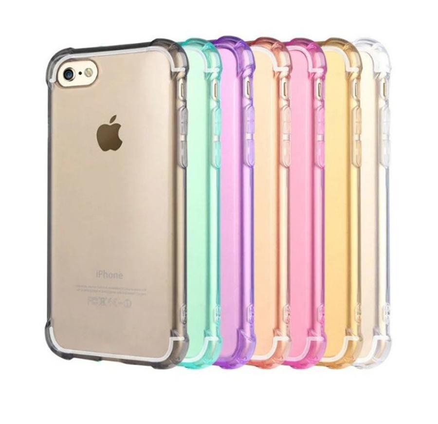 Super wstrząsoodporny Przezroczysty silikonowy etui na telefon komórkowy dla iPhone 6 7 8 plus x xr 11 12 13 pro max
