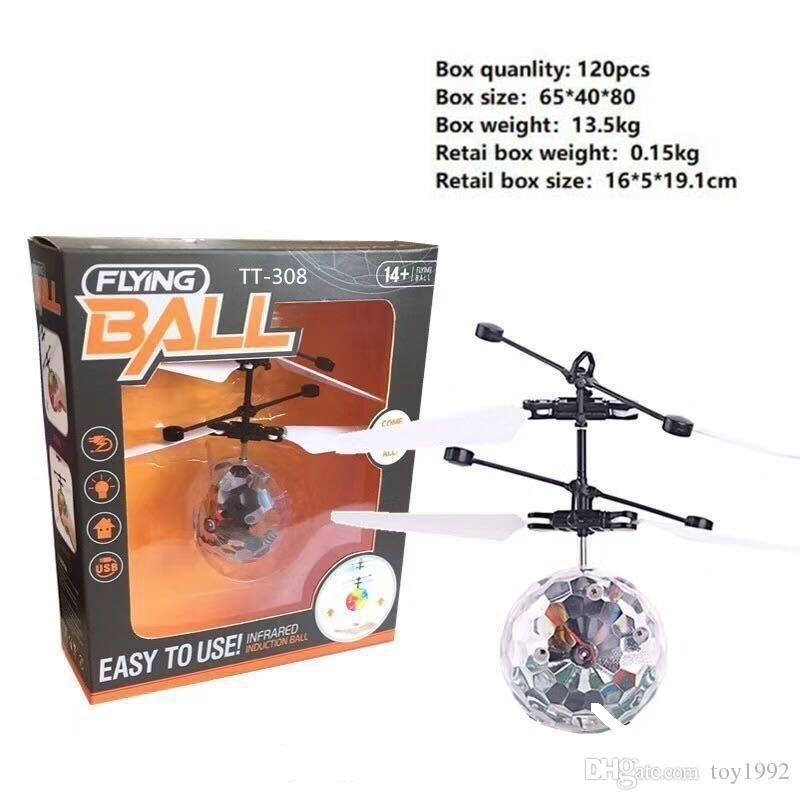 RC Drone volante elicottero sfera Aircraft Elicottero Led lampeggiante Light Up Giocattoli induzione giocattolo elettrico sensore bambini di Natale dei bambini