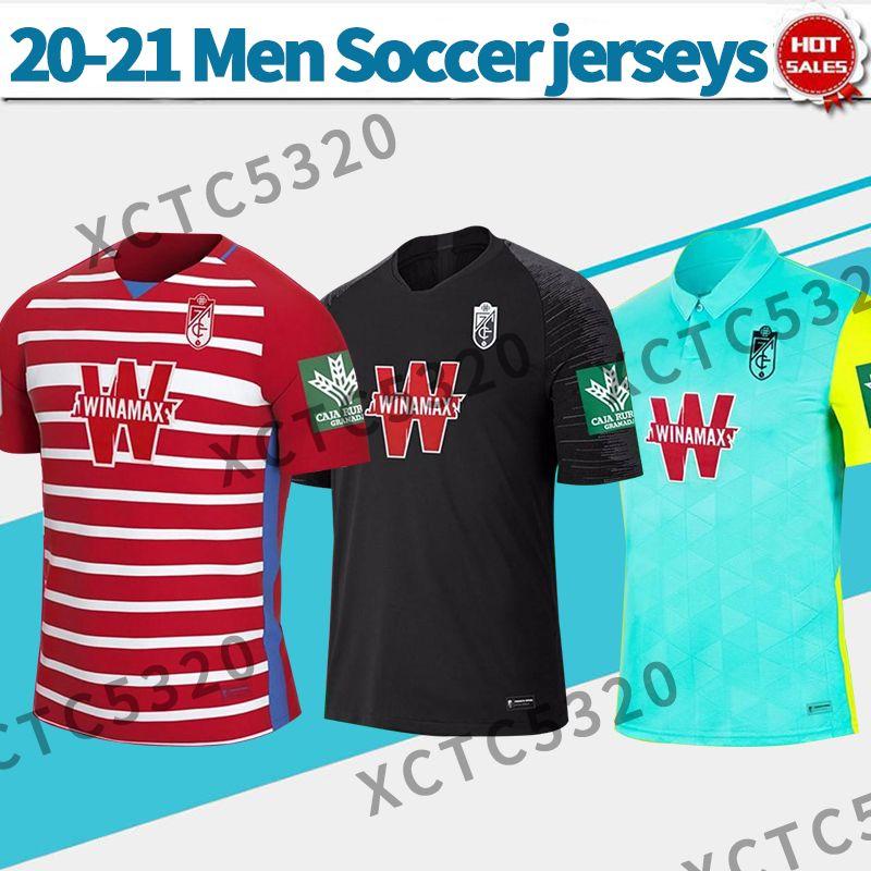 غرناطة CF Soccer Jersey Soldado Vadillo Herrera 20/21 منزل بعيدا 3RD الرجال Soccer قميص مخصص