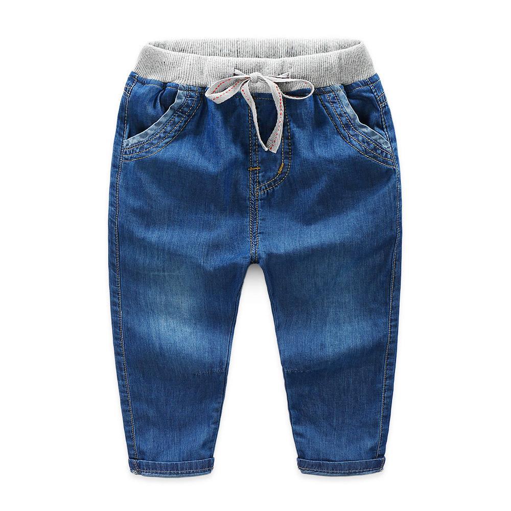 2021 Boy Gentleman Casual Jeans Pantalons Baby Toddler Boy Boy's Denim Pantalon Enfants Enfants Slim Denim Pantalon long Pantalon Dets Vêtements Q1219 Q0112