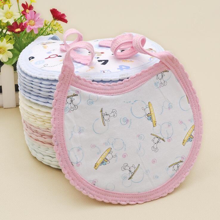 Bebeğin Önlüğü Burp Bezler Bebek Bibir Bib Çocuk Karikatür Hayvanlar Çiçekler Numarası Baskı% 100% Pamuk Önlükler