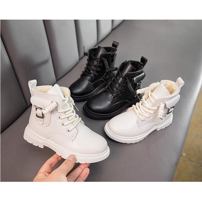 Heißer Verkauf Kinder Martin Boots Mode Herbst Winter Mädchen Jungenstiefel Soild Farbe Kinder Schuhe mit Reißverschluss 2 Farben