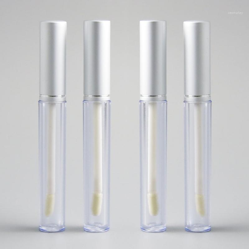 زجاجات التعبئة 12 قطع 5 ملليلتر لامع أنابيب الشفاه حاوية عصا فارغة الفضة أداة واضحة جدا مصغرة زجاجات إعادة الملء 1