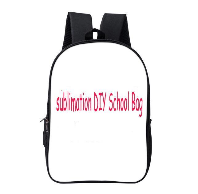 مل 3pcs على ظهره حقيبة التسامي DIY فارغة الإبداعية الشخصية البوليستر اثنين من طبقة مدرسة الطالب حقيبة حجم 42CM * 29CM * 16CM