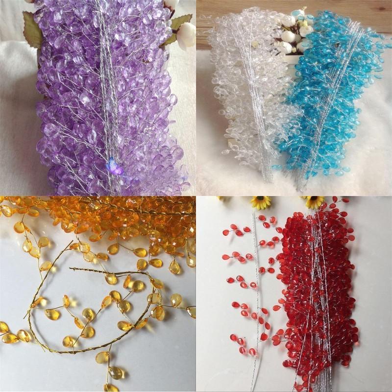 FAI DA TE cristallo lunghi canna decorazioni di nozze da sposa capelli ornamento mano holding fiore rattan decorazione partito accessori 1 38by G2
