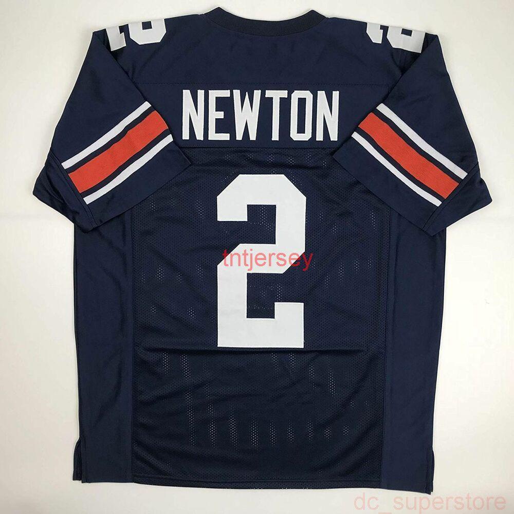 Cheap пользовательский новый кулачок Ньютон Синий сшитый футбол сшитый футбол добавляет любое имя имени