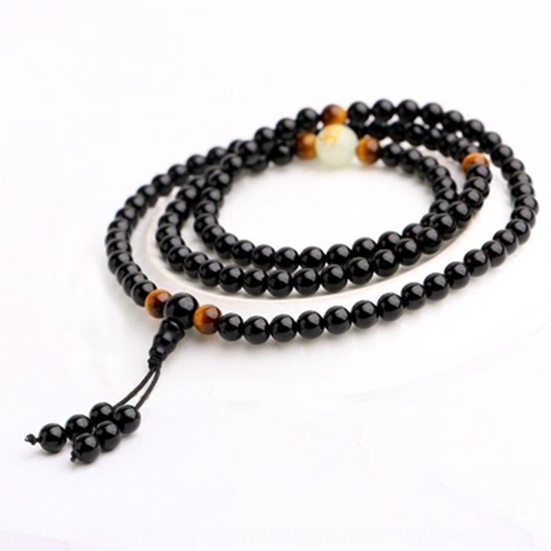 pierre lumineuse naturelle Zodiac Obsidian Obsidian Perles 108 perles de Bouddha bracelet pour les amoureux des hommes et des femmes DyIUZ