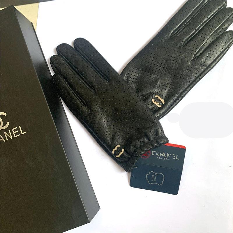 marques des gants en cuir et lapin gants écran tactile en peau de mouton, chaud et chaud gants de doigts en peau de mouton