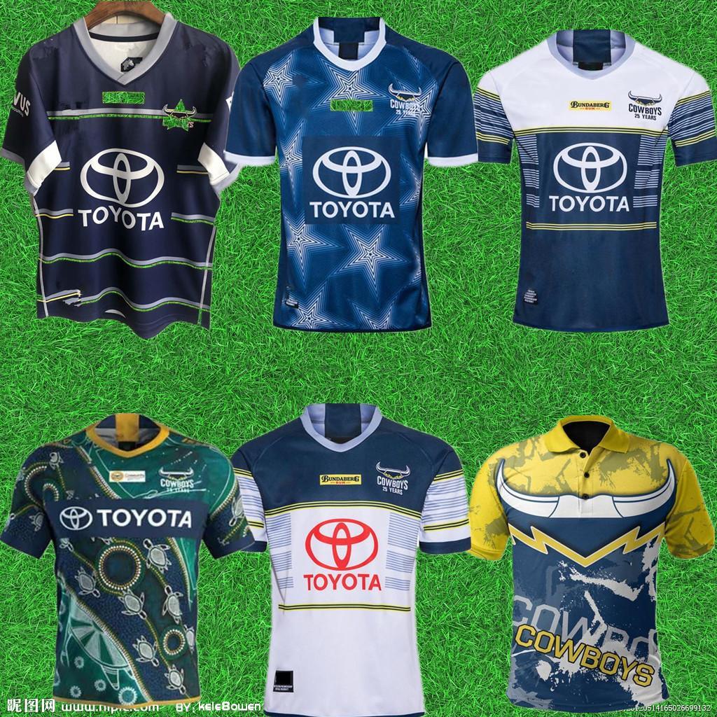S-5XL 2021 Novo Norte Queensland Cowboys Adulto Super Rugby Jersey Camisa Kit Maillot Camiseta Maglia Tops