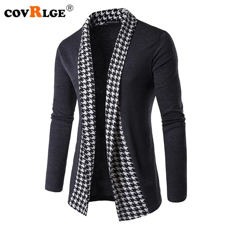 Covrlge New Otoño Invierno Clásico Cuff Knit Cardigan Hombres suéteres Hombres de alta calidad Abrigos de punto Ropa de punto MZL046 1113