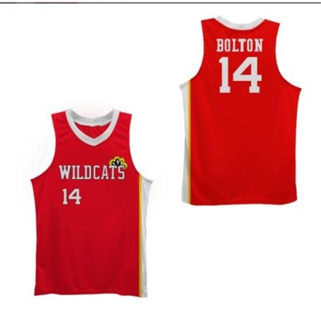 Benutzerdefinierte 604 Jugendfrauen Vintage Wildkatzen Troja Bolton # 14 Seltene Filmversion Basketball-Jersey Größe S-4XL oder benutzerdefinierte JEDE NAME ODER NUMMER JERSEY