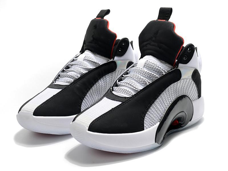 أطفال AJ 35 XXXV شيكاغو أبيض أسود أحمر كرة السلة أحذية جديدة jingman xxxv sp tp pf الرجال النساء الأحذية الرياضية الحجم 4-12