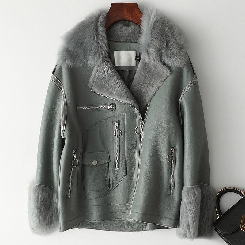 2020 Autumn Winter Women Clothes Real Genuine Leather Korean 100% Sheepskin Coat Female Jacket Double-faced Tops