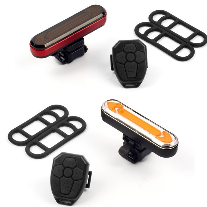 Luce posteriore della bicicletta telecomando wireless ricaricabile a LED per biciclette indicatori di direzione su una bicicletta fanale posteriore Ciclismo Accessori