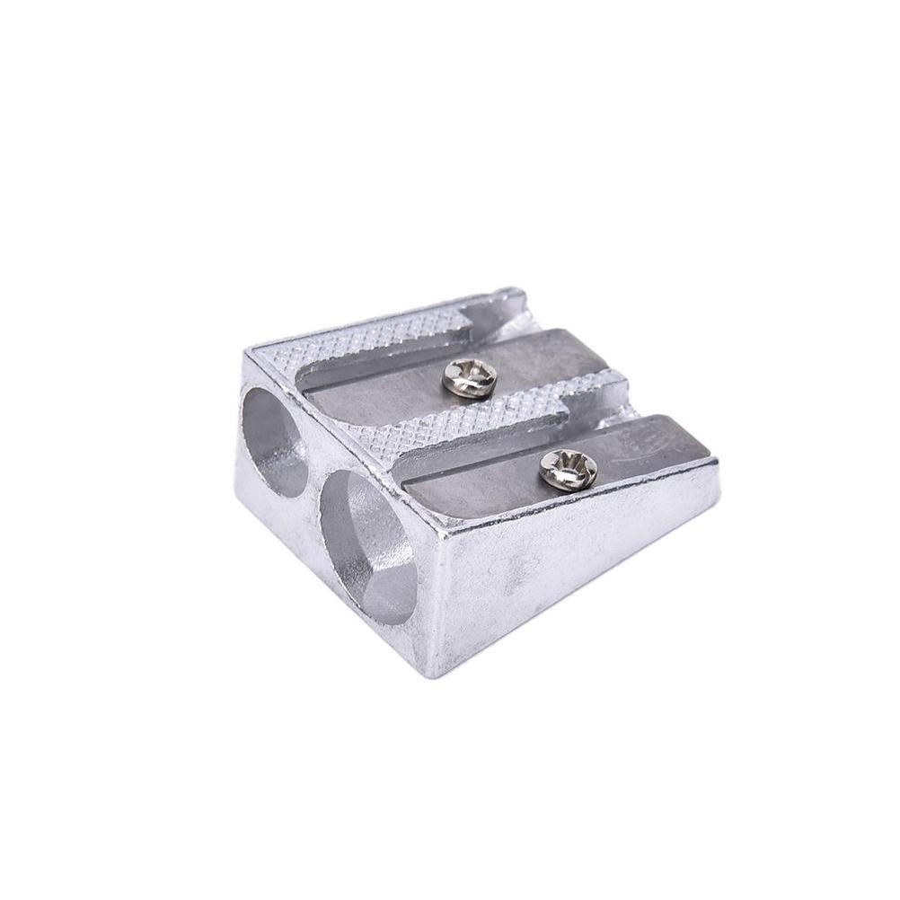 wholesale- 3pcs/set sliver hand metal pencil sharpener metal drawing writing learning tools school accessory Rc5fO
