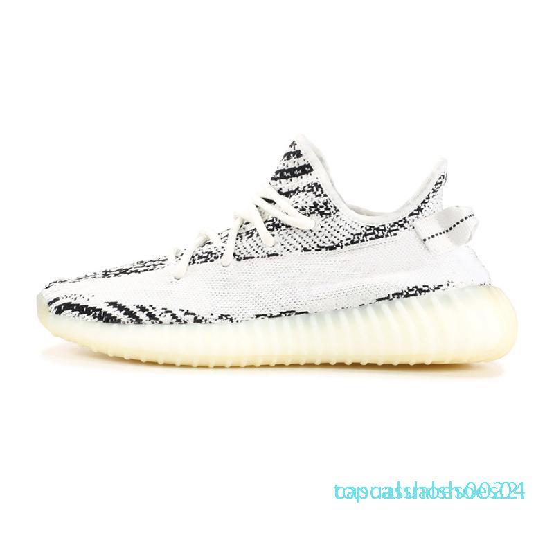 Yeni Gerçek Formu Hiperuzay Kil Statik Erkek Ayakkabı Kanye West Krem Beyaz Siyah Beyaz Kadın Moda Spor Sneakers 36-48 C22 Bred Running