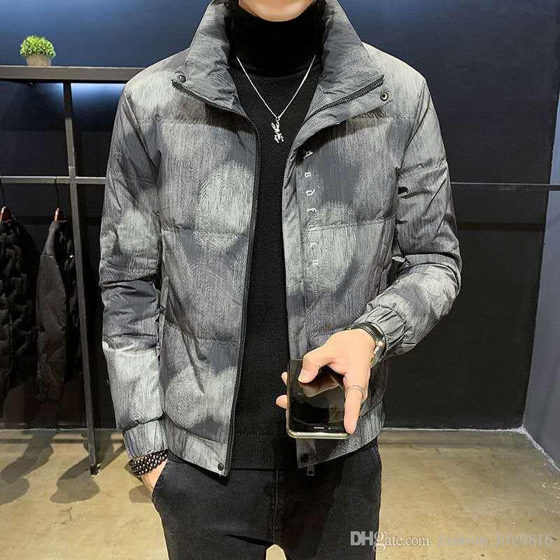 Мужчины Классический повседневный пуховик мода большой пузырь маленький пузырь 2020 новые дизайнеры зимний мужской открытый теплый перо зимняя куртка