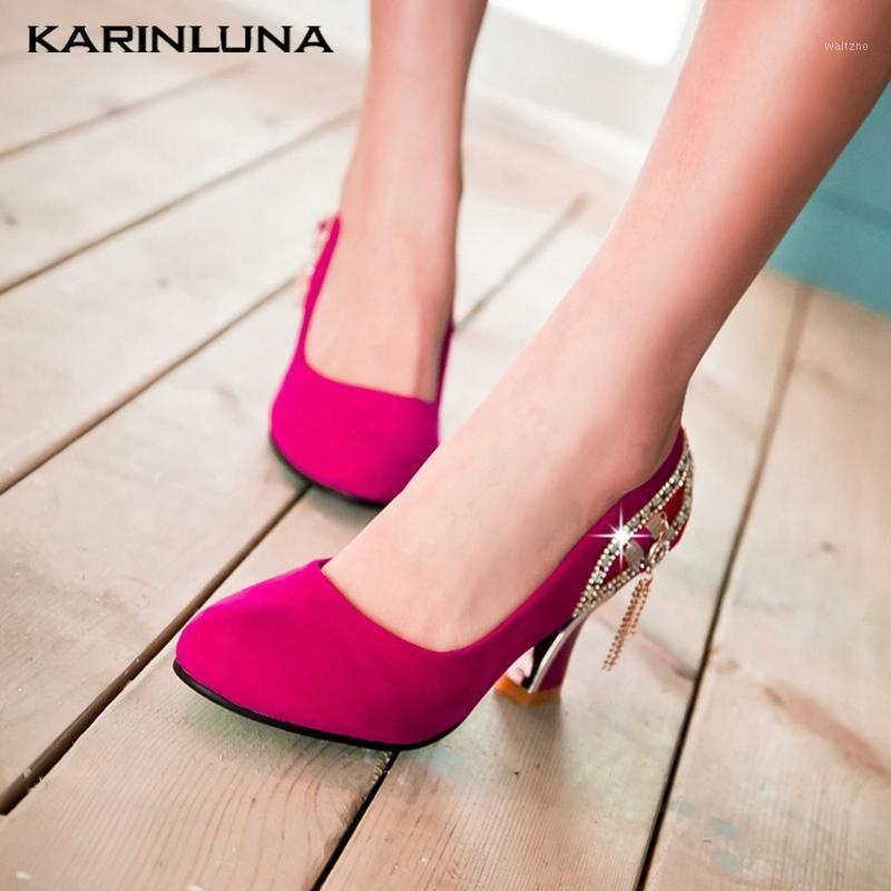 Karin 2020 New Fashion Big Size 43 Women Pumps Strange Style Heels Platform Metal Decoration Summer Casual Woman Shoes1