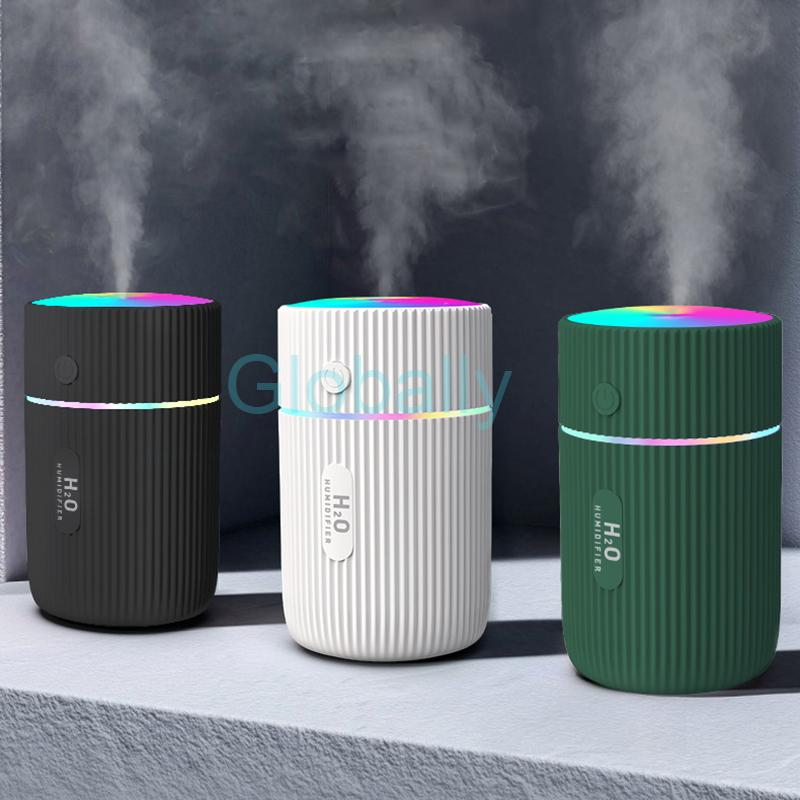 Tragbare Luftbefeuchter Luftbefeuchter mit nahe buntem Licht Mini Zerstäubungsbefeuchter Nebelhersteller Büro-Luftreiniger