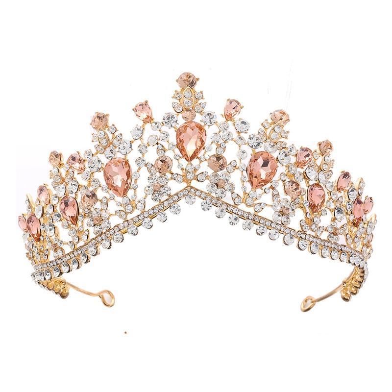 Saç Klipler Barrettes Kadınlar için Taçlar, Tiaras ve Kristal Yan Taraklı Kadınlar, Prenses U2JF