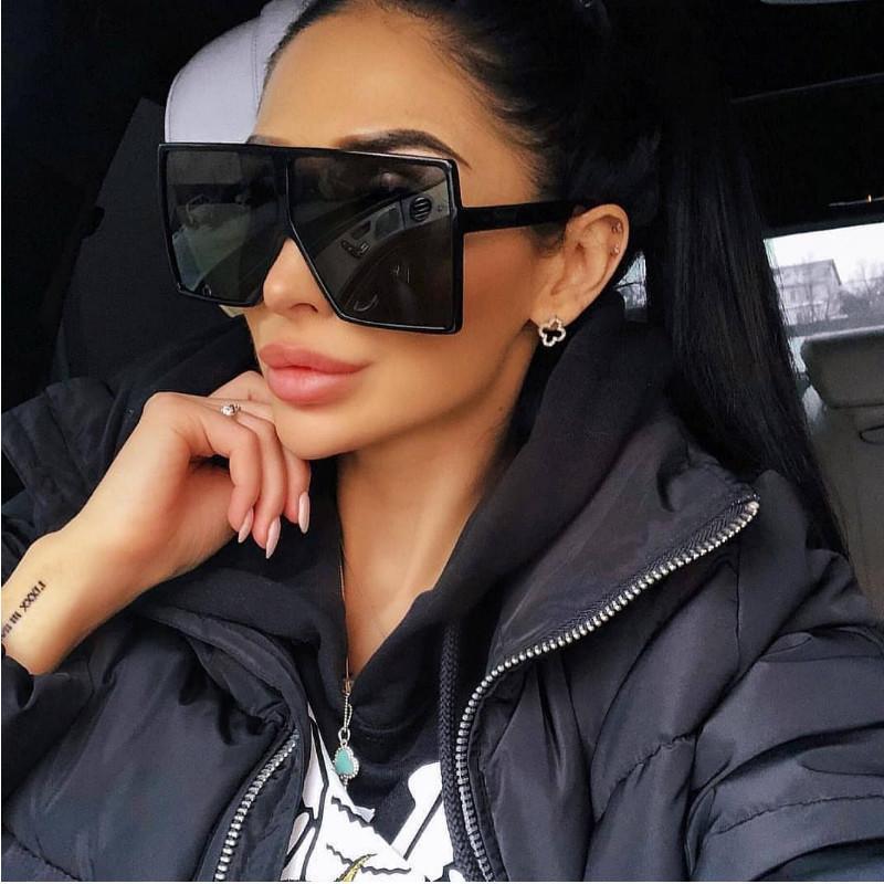 Boy Güneş Gözlüğü Kadınlar 2020 Marka Tasarımcısı Gözlük Büyük Çerçeve Plastik Kare Güneş Gözlüğü Kadınlar için Güneş Gözlükleri Kadın Gözlük HPCBG