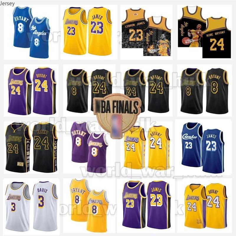 24 8 33 Bryant Jersey Los Lebron 23 James AngelesLakersJerseys Basse Merion College 2020 2021 Nouveaux hommes Basketball 001