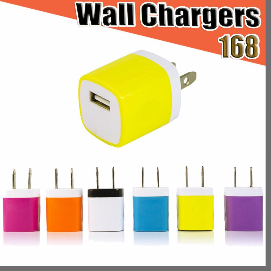 168D 5V/1A Travel Power Adapter Home Wall Charger Charging Plug for Samsung Huawei Moto Nokia Mobile Phone Universal Charging Charger