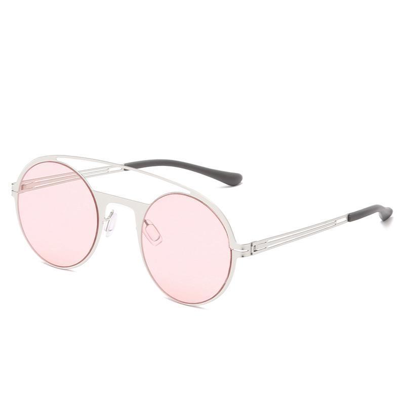 2021 Occhiali da sole rotondi retro rotondi Uomini Donne Designer Brand Designer Moda Colorata Occhiali da sole Shades Protezione UV400