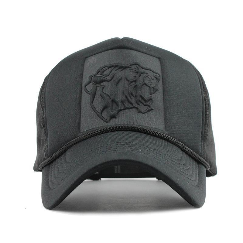 Caps [FLB] Hip Hop Black Leopard Print curvo baseball estate Mesh Snapback cappelli per le donne gli uomini casquette Trucker Cap 201027