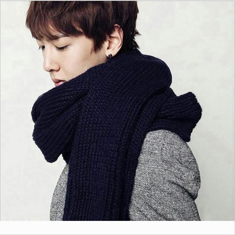 PUNKOOL Designer 2020 Amantes longo inverno cachecóis cachecol Xaile de malha de lã Men Casal Unisex Cachecol Wint