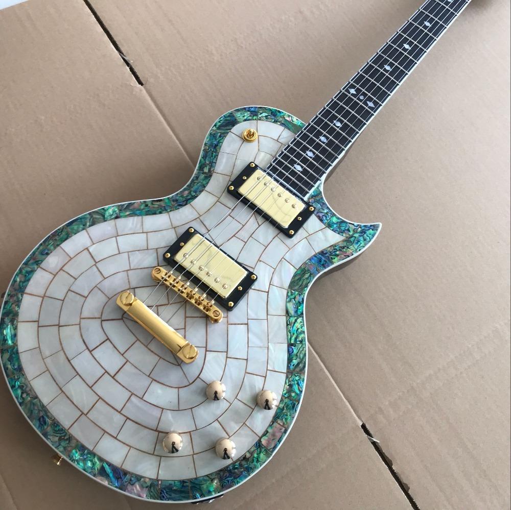 Guitare personnalisée, guitare électrique personnalisé standard, guitarre, mur de rose de rose sur mesure gitaar.one pièce cou et bod