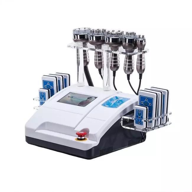 무료 배송 6 in 1 RF 무선 장비 주파수 진공 lipo 레이저 슬리밍 캐비테이션 바디 셰이퍼 체중 감량 슬리밍 기계 스파
