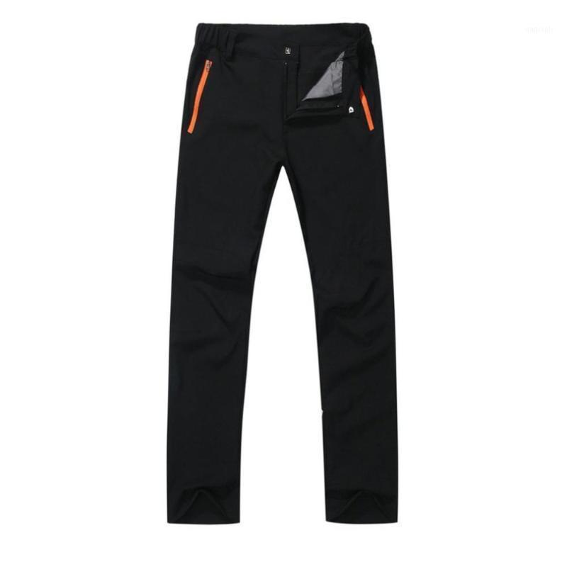 Pantaloni da esterno possono essere distaccati in autunno e inverno più Pantaloni da sci impermeabili caldi e antivento di velluto