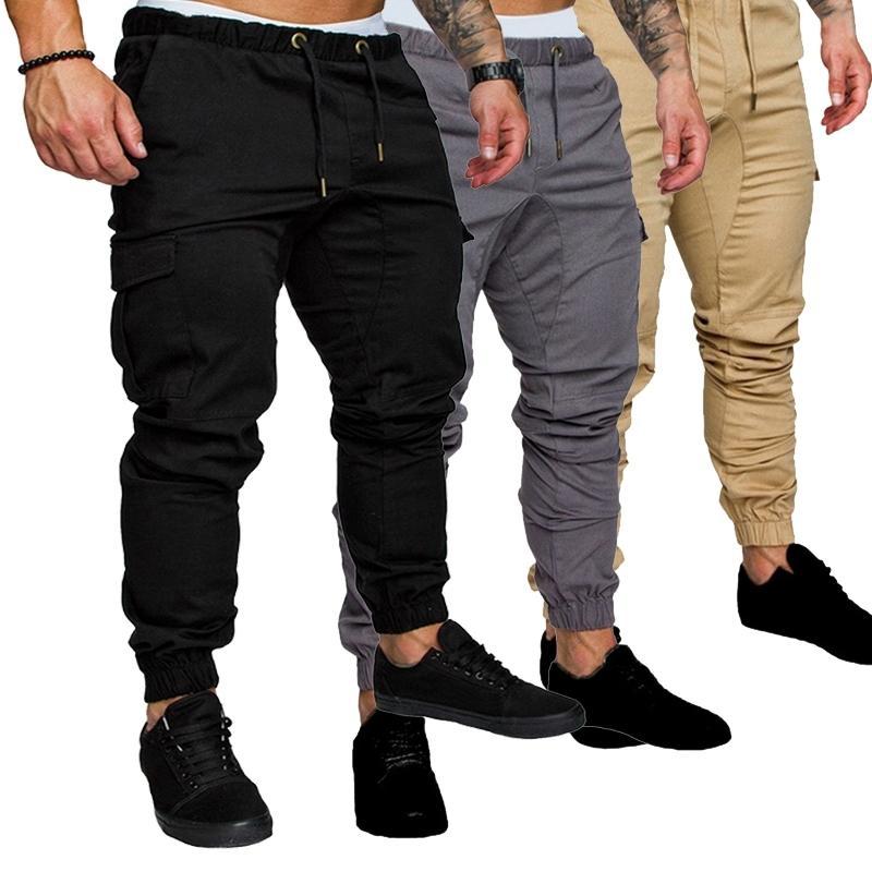 M-4XL Joggers Men Automne Pantalon Hip Hop Harem Joggers Pantalons Nouveau pantalon masculin Hommes Pantalons multi-poches solides Santé Y201123