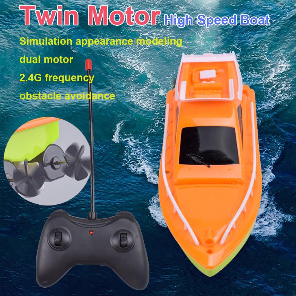 Twin Motor alta velocidade barco fácil de usar remoto controle do navio brinquedos para crianças brinquedos para crianças meninos meninas crianças presentes #C