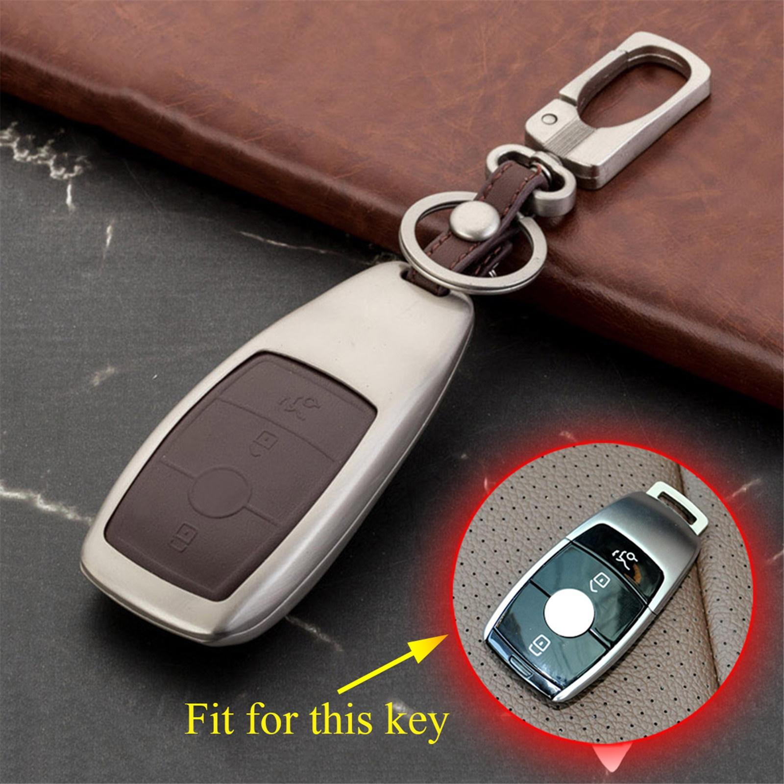 3 Buttons Key Ring For Benz E S Class W213 S213 2016 2017 2018 Accessories Key Fob Case Holder Shell Box Fob Shell Bag Protector Cover
