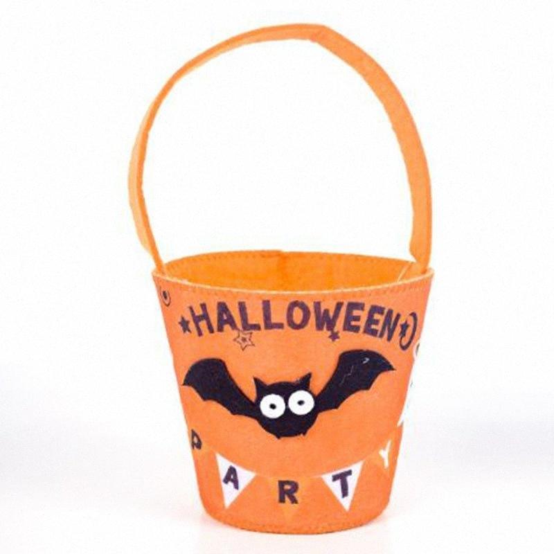 Carino bambini Halloween caramella carattere carrello Treak o trattare contenitore può Borsa di New CrWC #