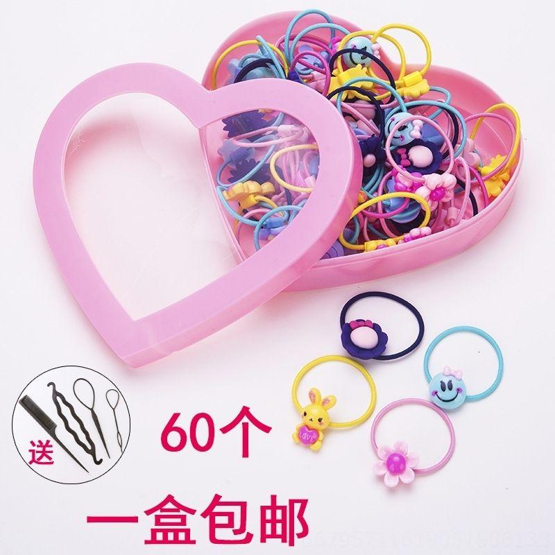 Роскошный клип. Головные уборы Rubber Baby Girl Child кольцо Маленькая Rubber Band Rope Rope диапазона волос девушки карты волос Eflfe падение серьги серьги