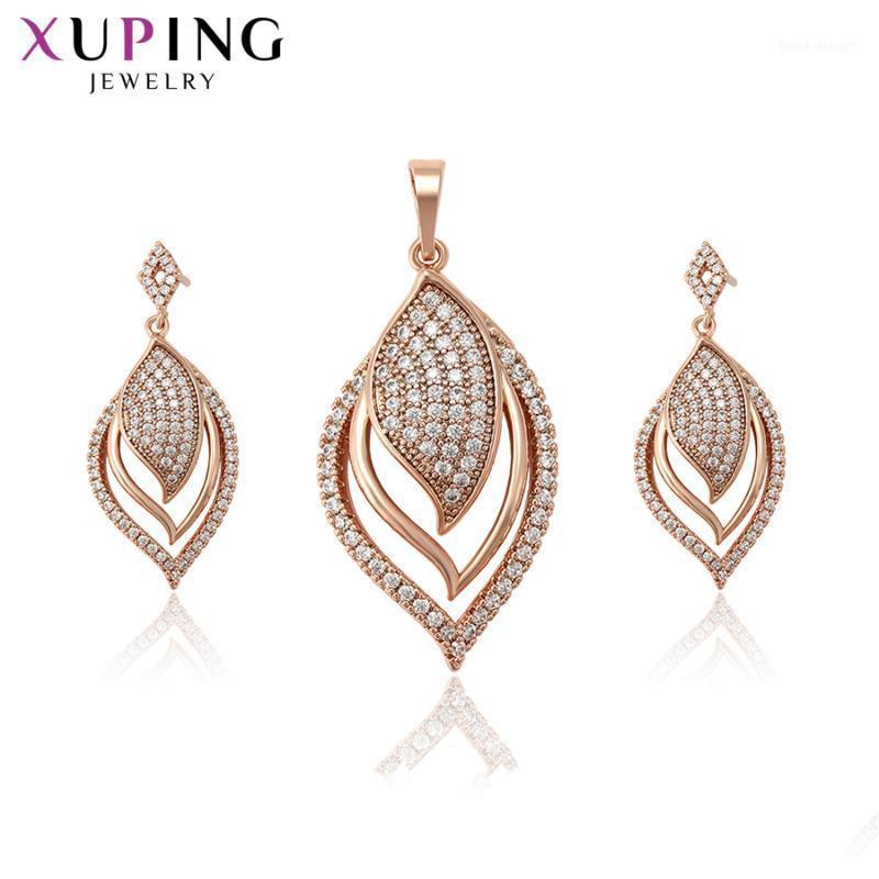 Xuping Fashion Trendy Sets Fantastic Charm Women Sets Rose Gold Color Plated Wedding Gifts High Quality Elegant S215.5-655921