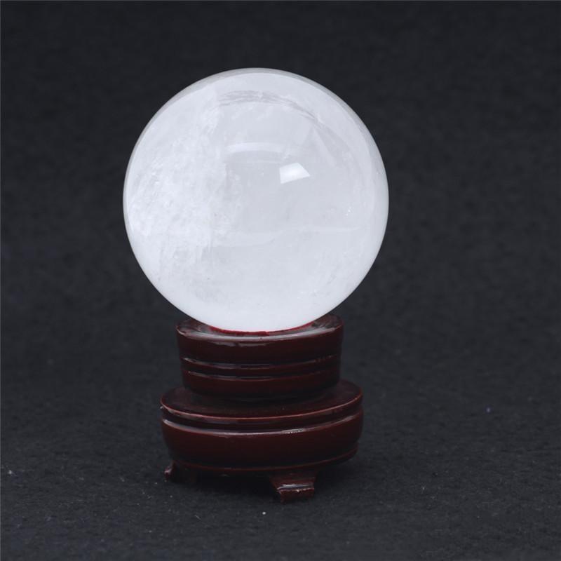 HJT Cristal Cristal Decorações da esfera / clara 606g Limpar Gemstone Natural Esfera pequeno Início Cura Sphere Atacado Venda bbyHU