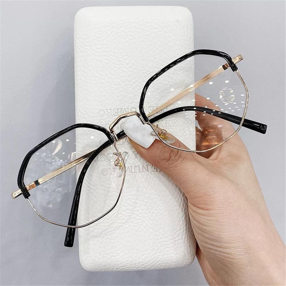 Qutzzmnd Heiße halbierte Myopie Brille Frauen Männer Myopic Student Diopter Mode Brillen Rahmen -1,0 bis -4,0