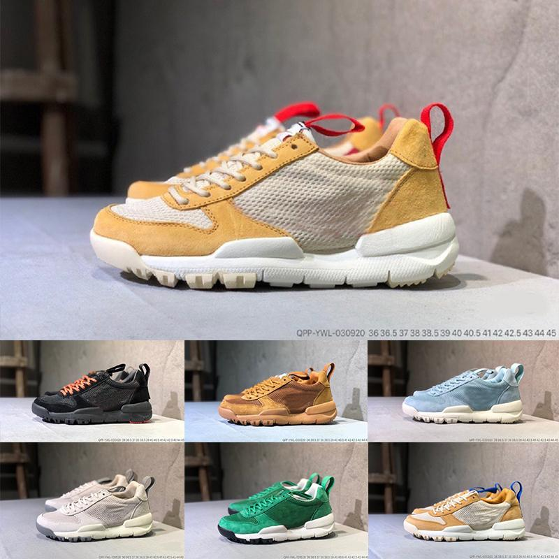 Chaud Sale Tom Sachs Craft Mars Yard Ts Nasa 2.0 Chaussures de course AA2261-100 Natural / Sport Red-Maple Unisexe Chaussures de causalité Taille 36-45