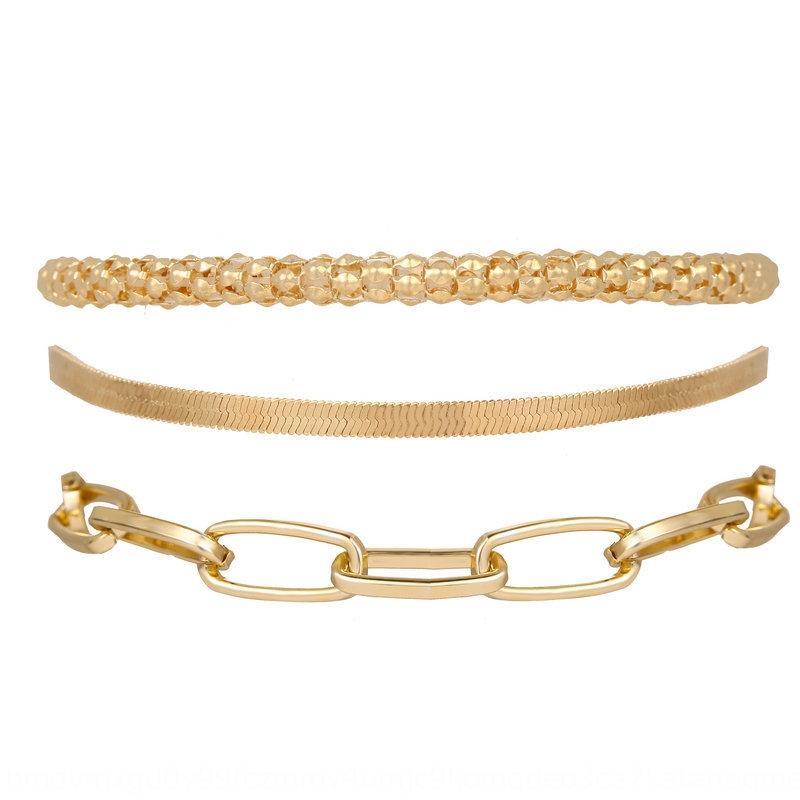 personalizada de metal 52004 nueva cadena de serpiente de hueso 52004 hueso nuevo de serpiente de múltiples capas de múltiples capas creativa creativa personalizada cadena de pulsera de metal