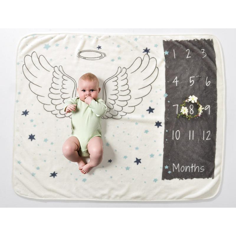 Bebê infantil Milestone Cobertor Photo Fotografia Cobertor Pano Pano Calendário Calendário Menino Menino Foto Acessórios Y201009