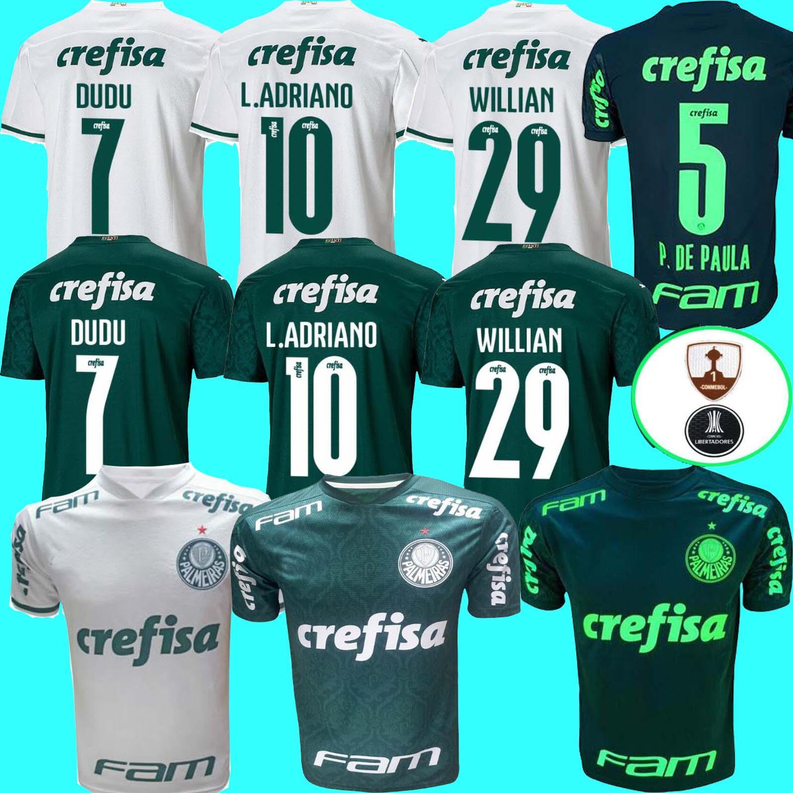 20 21 Palmeiras L. Adriano Soccer Jerseys Dudu g.jesus alecsandro 2020 21palmeiras ويليان كلييتون الرجال + أطفال كرة القدم قميص